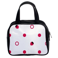 Strawberry Circles Pink Twin-sided Satched Handbag