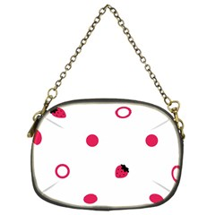 Strawberry Circles Pink Single Sided Evening Purse