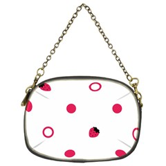 Strawberry Circles Pink Twin Sided Evening Purse