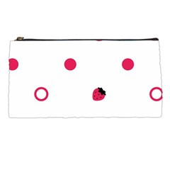 Strawberry Circles Pink Pencil Case