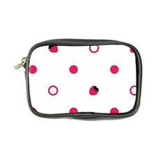 Strawberry Circles Pink Ultra Compact Camera Case