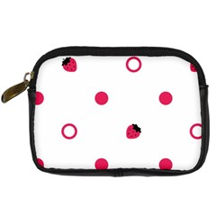 Strawberry Circles Pink Compact Camera Case