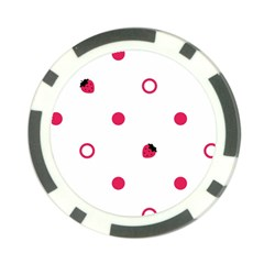 Strawberry Circles Pink 10 Pack Poker Chip
