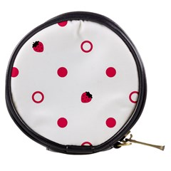 Strawberry Circles Pink Mini Makeup Case