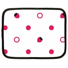 Strawberry Circles Pink 15  Netbook Case