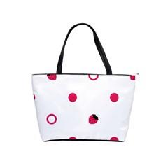 Strawberry Circles Pink Large Shoulder Bag