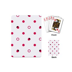 Strawberry Circles Pink Playing Cards (mini)