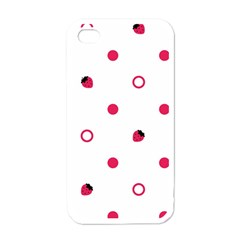 Strawberry Circles Pink White Apple iPhone 4 Case