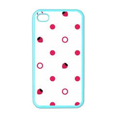 Strawberry Circles Pink Apple Iphone 4 Case (color)