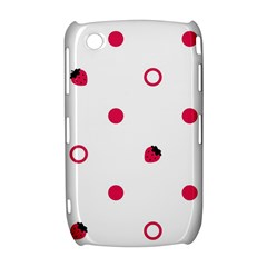 Strawberry Circles Pink BlackBerry Curve 8520 9300 Hardshell Case