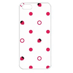 Strawberry Circles Pink Apple iPhone 5 Seamless Case (White)