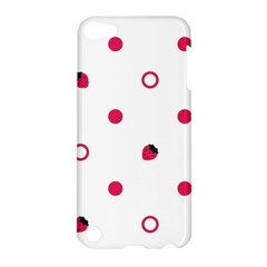 Strawberry Circles Pink Apple iPod Touch 5 Hardshell Case
