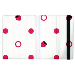 Strawberry Circles Pink Apple Ipad 3/4 Flip Case