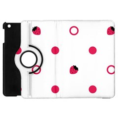 Strawberry Circles Pink Apple iPad Mini Flip 360 Case