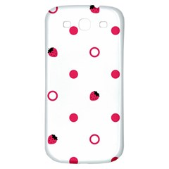 Strawberry Circles Pink Samsung Galaxy S3 S Iii Classic Hardshell Back Case