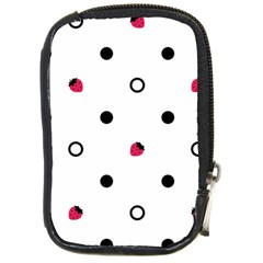 Strawberry Circles Black Digital Camera Case