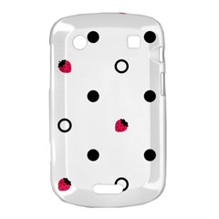 Strawberry Circles Black BlackBerry Bold Touch 9900 9930 Hardshell Case