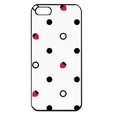 Strawberry Circles Black Apple iPhone 5 Seamless Case (Black)