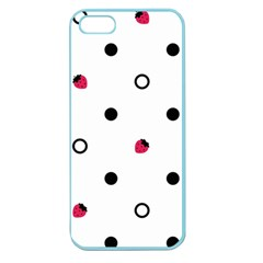 Strawberry Circles Black Apple Seamless iPhone 5 Case (Color)