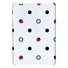 Strawberry Circles Black Apple Ipad Mini Hardshell Case