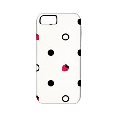 Strawberry Circles Black Apple Iphone 5 Classic Hardshell Case (pc+silicone)