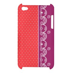 Lace Dots With Violet Rose Apple iPod Touch 4G Hardshell Case