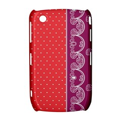 Lace Dots With Violet Rose BlackBerry Curve 8520 9300 Hardshell Case