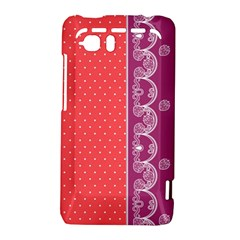 Lace Dots With Violet Rose HTC Vivid / Raider 4G Hardshell Case