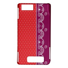Lace Dots With Violet Rose Motorola Droid X / X2 Hardshell Case