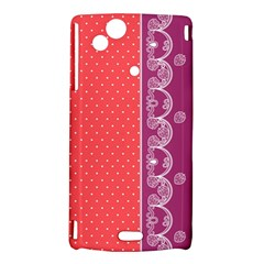 Lace Dots With Violet Rose Sony Ericsson Xperia Arc Hardshell Case
