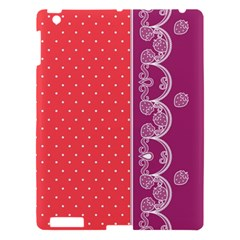 Lace Dots With Violet Rose Apple Ipad 3/4 Hardshell Case