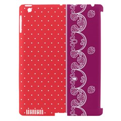 Lace Dots With Violet Rose Apple Ipad 3/4 Hardshell Case (compatible With Smart Cover)