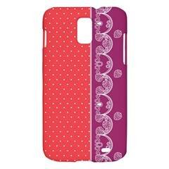 Lace Dots With Violet Rose Samsung Galaxy S II Skyrocket Hardshell Case