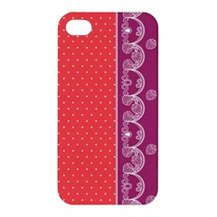 Lace Dots With Violet Rose Apple iPhone 4/4S Premium Hardshell Case