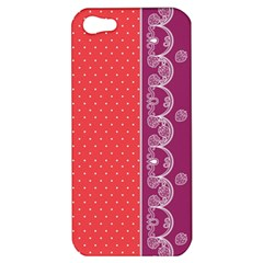 Lace Dots With Violet Rose Apple iPhone 5 Hardshell Case