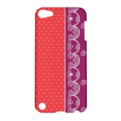 Lace Dots With Violet Rose Apple iPod Touch 5 Hardshell Case