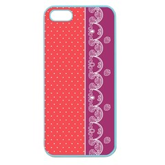 Lace Dots With Violet Rose Apple Seamless Iphone 5 Case (color)