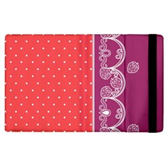 Lace Dots With Violet Rose Apple iPad 3/4 Flip Case