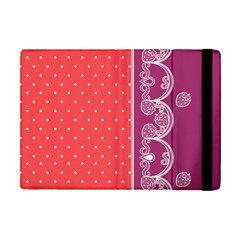 Lace Dots With Violet Rose Apple iPad Mini Flip Case