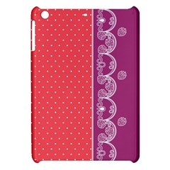 Lace Dots With Violet Rose Apple iPad Mini Hardshell Case