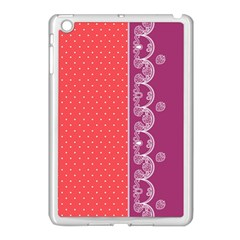 Lace Dots With Violet Rose Apple Ipad Mini Case (white)