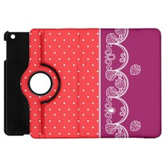 Lace Dots With Violet Rose Apple Ipad Mini Flip 360 Case