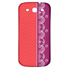 Lace Dots With Violet Rose Samsung Galaxy S3 S III Classic Hardshell Back Case