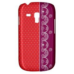 Lace Dots With Violet Rose Samsung Galaxy S3 MINI I8190 Hardshell Case