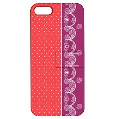 Lace Dots With Violet Rose Apple iPhone 5 Hardshell Case with Stand