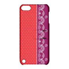Lace Dots With Violet Rose Apple iPod Touch 5 Hardshell Case with Stand