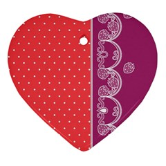 Lace Dots With Violet Rose Ornament (Heart)