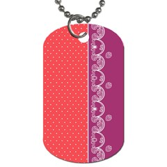 Lace Dots With Violet Rose Dog Tag (One Side)