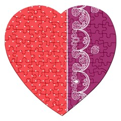 Lace Dots With Violet Rose Jigsaw Puzzle (heart)