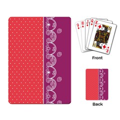 Lace Dots With Violet Rose Playing Cards Single Design